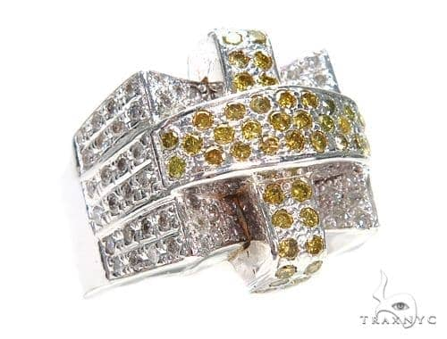 Prong Colored Diamond Ring 42144 Stone