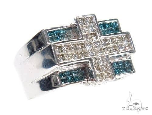 Invisible Colored Diamond Ring 42145 Stone