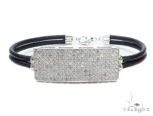 Prong Diamond Leather Bracelet 42300 Diamond