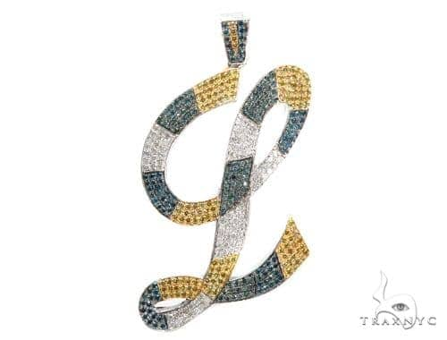 'L' Diamond Initial Pendant 42363 Style