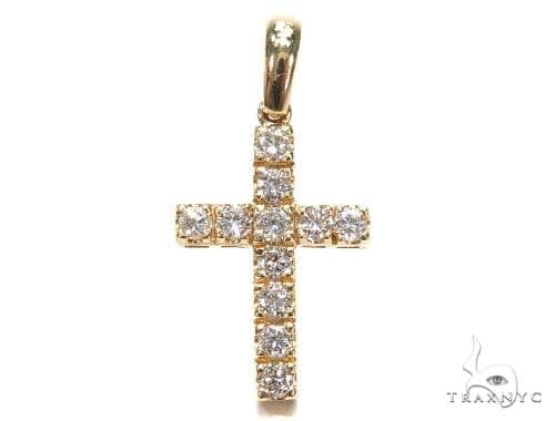Prong Diamond Cross Pendant 42399 Diamond Cross Pendants