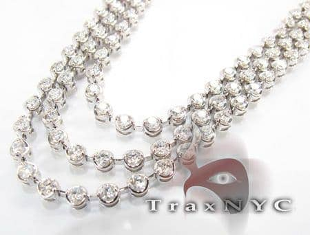 Tri Bezel Necklace Diamond