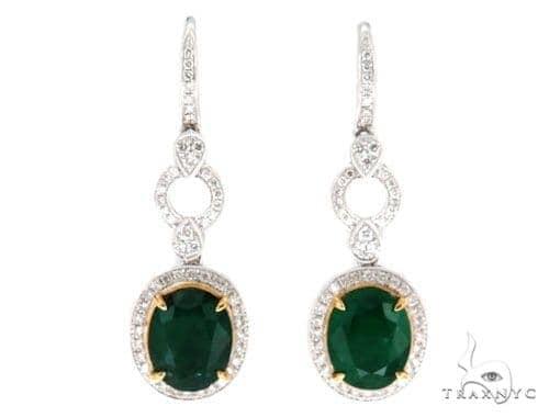 Belle Diamond Emerald Earrings 42415 Stone