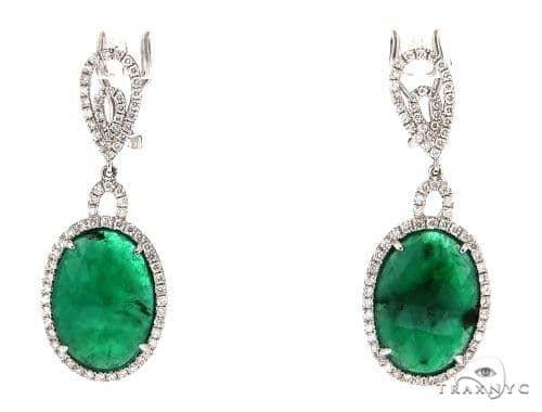 Bee Balm Prong Diamond Earrings 42416 Stone