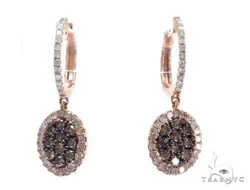 Prong Diamond Hoop Earrings 42514 Style