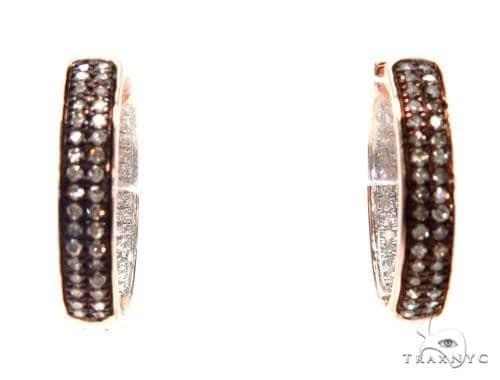 Prong Diamond Hoop Earrings 42513 Style