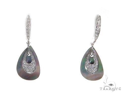 Prong Diamond Hoop Earrings 42512 Stone