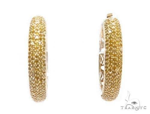 Prong Diamond Hoop Earrings 42508 Style