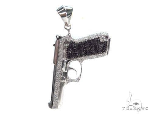 Prong Diamond Pendant 42537 Metal