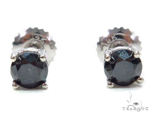 Black Diamond Sterling Silver Stud Earrings 42540 シルバーイヤリング