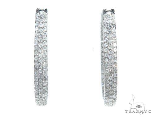 Prong Diamond Hoop Earrings 42571 Style