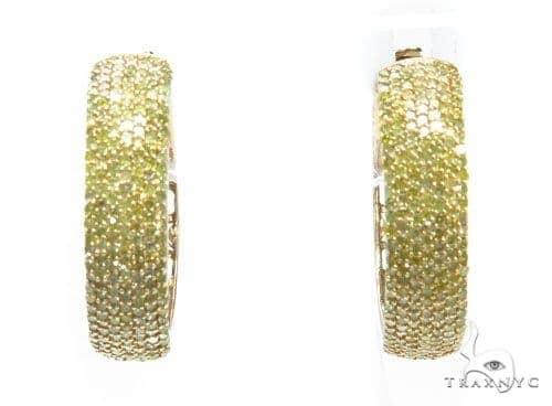 Prong Diamond Hoop Earrings 42559 Style