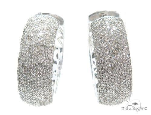 Prong Diamond Hoop Earrings 42586 Style