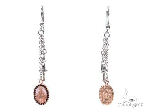 Cross Silver Earrings 42665 Metal