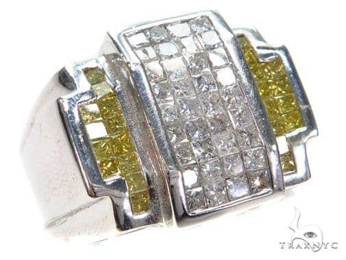 Invisible Colored Diamond Ring 42706 Stone