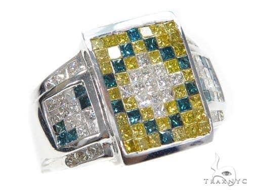 Invisible Colored Diamond Ring 42719 Stone