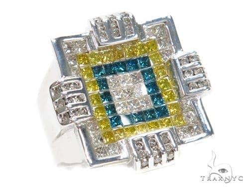 Invisible Colored Diamond Ring 42721 Stone