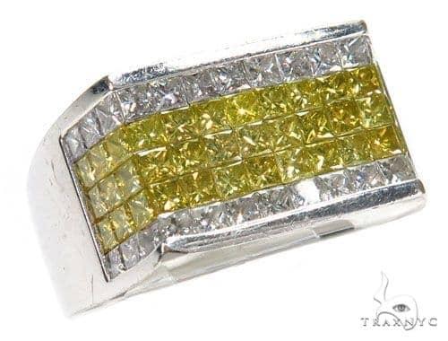 Invisible Colored Diamond Ring 42728 Stone