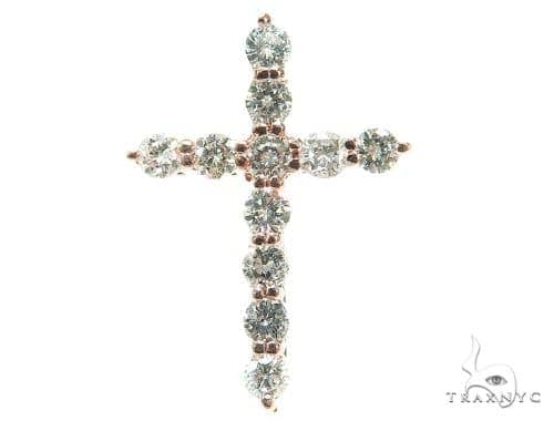 Prong Diamond Cross Pendant 42402 Diamond Cross Pendants