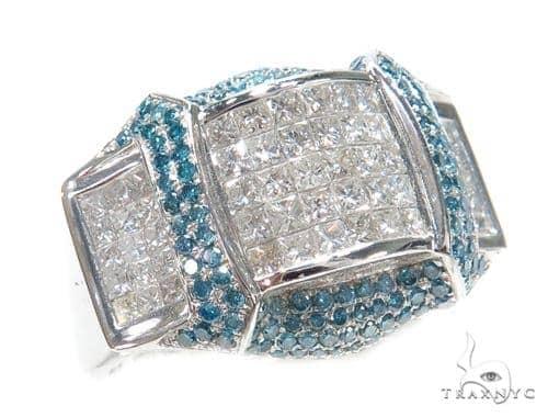Invisible Colored Diamond Ring 42743 Stone