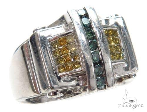 Invisible Colored Diamond Ring 42744 Stone