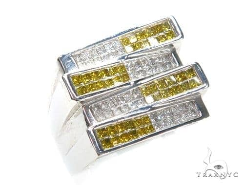Invisible Colored Diamond Ring 42757 Stone