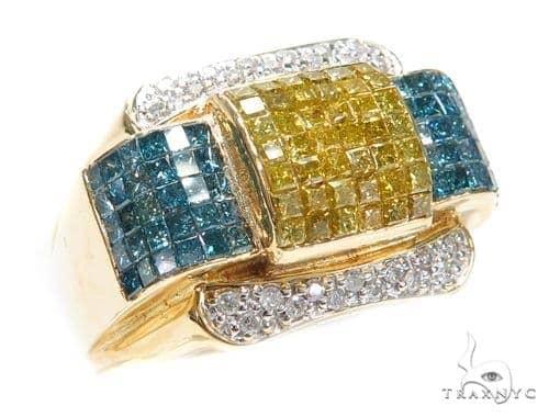 Invisible Colored Diamond Ring 42758 Stone