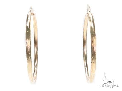 10k Yellow Hoop Earrings 42959 Style