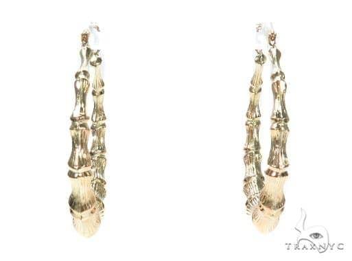 10k Yellow Hoop Earrings 42961 Style
