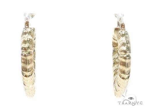 10k Yellow Hoop Earrings 42969 Style