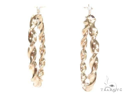 10k Yellow Hoop Earrings 42963 Style