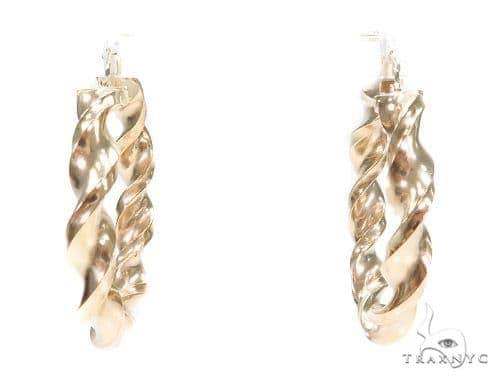10k Yellow Hoop Earrings 42964 Style