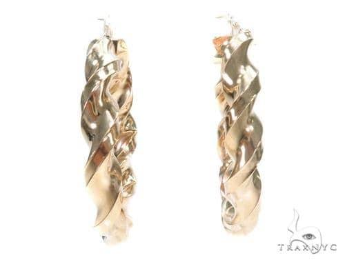 10k Yellow Hoop Earrings 42967 Style