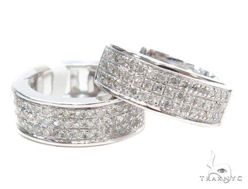 Prong Diamond Hoop Earrings 43097 Style