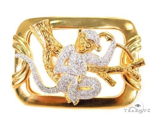 Monkey Sterling Silver Buckle 43577 Metal