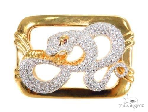 Snake Sterling Silver Buckle 43578 Metal