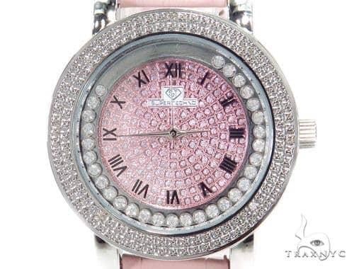 Prong Diamond Pink Super Techno Watch I-5516 43573 Super Techno