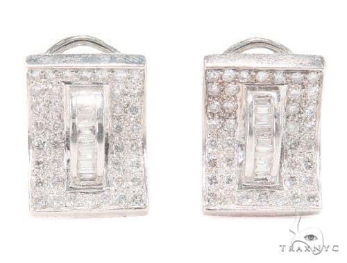 Prong Diamond Hoop Earrings 43852 10k, 14k, 18k Gold Earrings