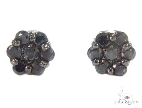 Prong Black Diamond Cluster Earrings 43889 Style