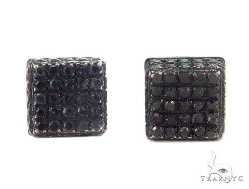 Prong Black Diamond Earrings 43918 Style
