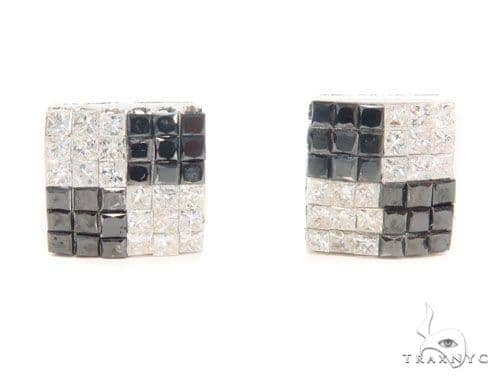 Invisible Black & White Diamond Earrings 43977 Style