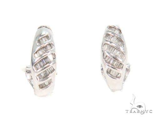 Channel Diamond Hoop Earrings 43983 10k, 14k, 18k Gold Earrings