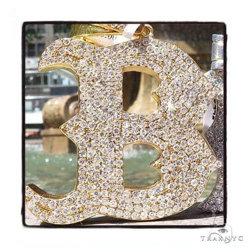 Prong Diamond Initial \'B\'  Pendant 42994 Style