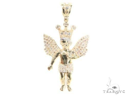10k Yellow Gold Angel Pendant 44220 Metal