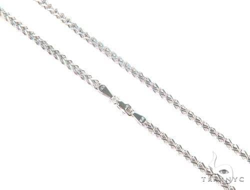 10k White Gold Franco n 20 Inches 2.5mm 4.2 Grams 44243 Gold