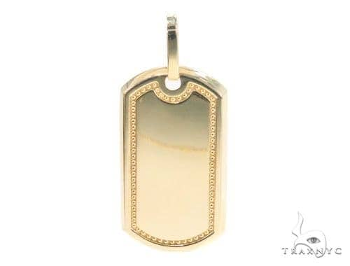 10k Yellow Gold Dog Tag 44269 Style