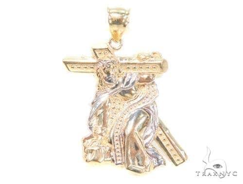 10k Yellow Gold Jesus Crucifixion Pendant 44278 Metal