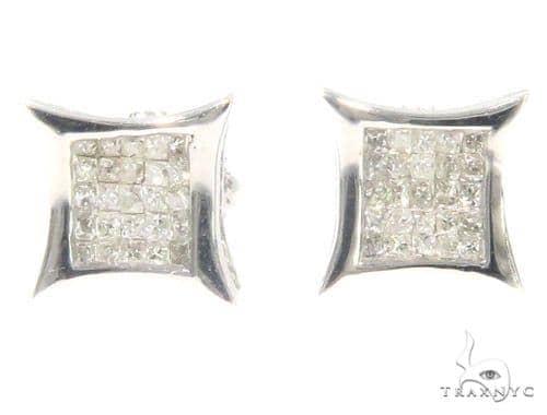 Invisible Diamond Earrings 44325 Stone