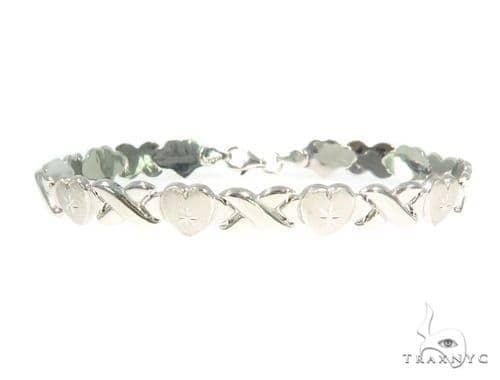 10K White Gold Bracelet 44360 Gold