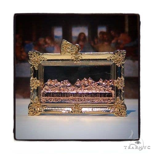 10k Three Tone Gold Last Supper Rope  Chain Set 44367 Metal
